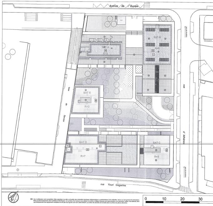 Plan les terrasses d l europe colombes